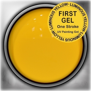 UV/LED гелови бои:First Gel One Stroke - Luminouse Yellow 5g