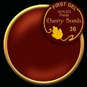 UV/LED гелови бои:First Gel Gelpaste Cherry Bomb 36  -  5g