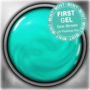 UV/LED гелови бои:First Gel One Stroke - Mint 5g