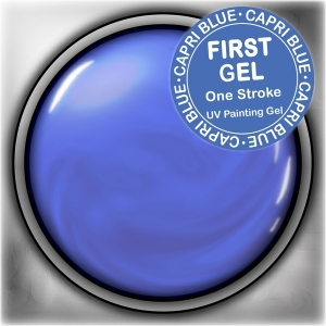 UV/LED гелови бои:First Gel One Stroke - Capri Blue 5g