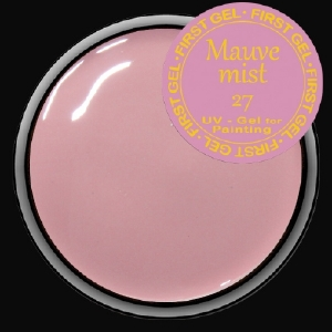 UV/LED гелови бои:First Gel Gelpaste  Mauve Mist-27 -  5g