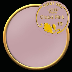 UV/LED гелови бои:First Gel Gelpaste Cloud Pink 19  -  5g