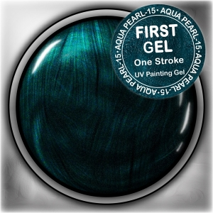 UV/LED гелови бои:First Gel One Stroke - Aqua-pearl 5g