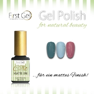 Топ лак, основа и други: Топ за гел лак матиращ First gel MATTE ONr - 10 ml